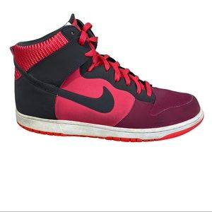 NIKE Dunk High Top Sneakers in Noble Red 13